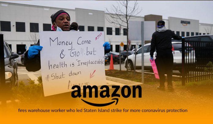 Amazon fired coronavirus strike leader Chris Smalls at Staten Island facility