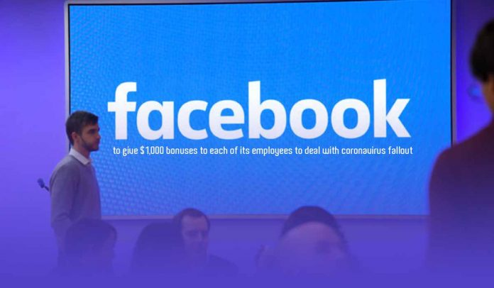 Facebook is giving bonus of $1000 to all of its employees