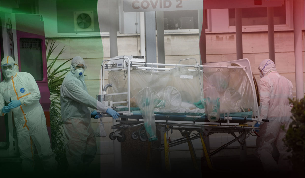 Italy's death toll climbs above 7,000 but new cases declines for the fourth day in a row