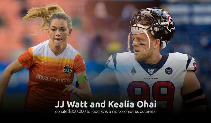 JJ Watt and his wife Kealia Ohai donate $350,000 to the Houston food bank