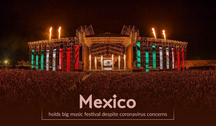 Mexico holds a big music festival despite COVID-19 concerns