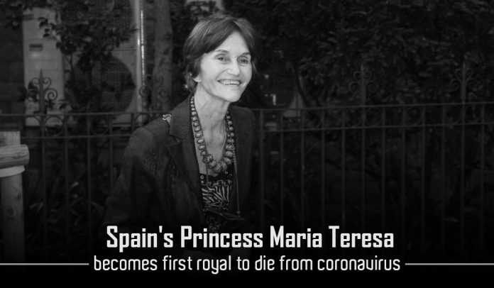 Maria Teresa, Spain's Princess, has passed away due to COVID-19