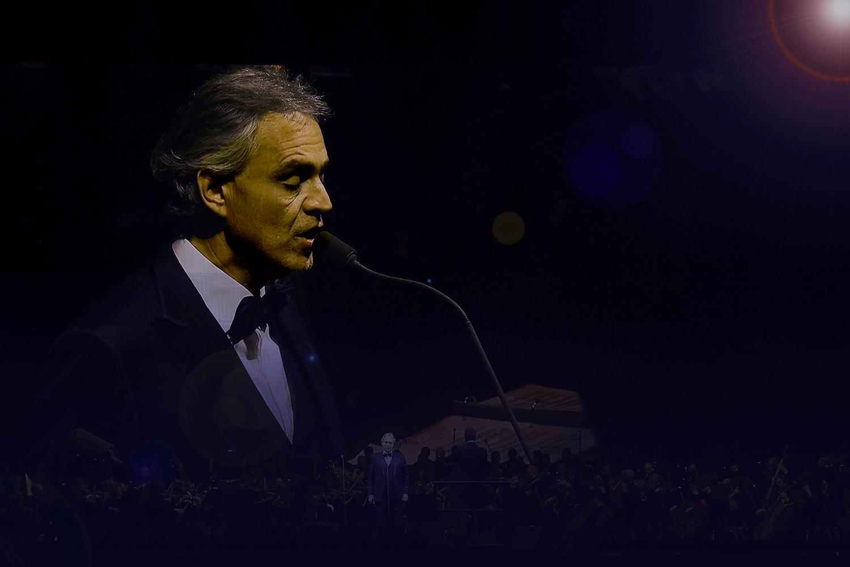 Andrea Bocelli make performance at Easter concert in Milan