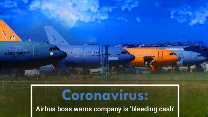 Airbus's CEO warns the company is short on cash amid COVID-19