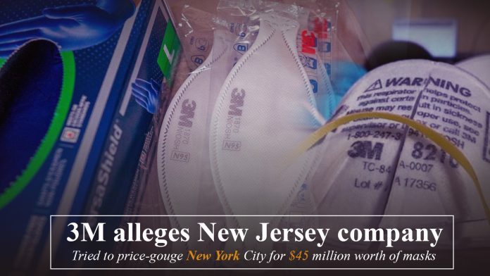 3M declares New Jersey firm tried to use its name to sell masks