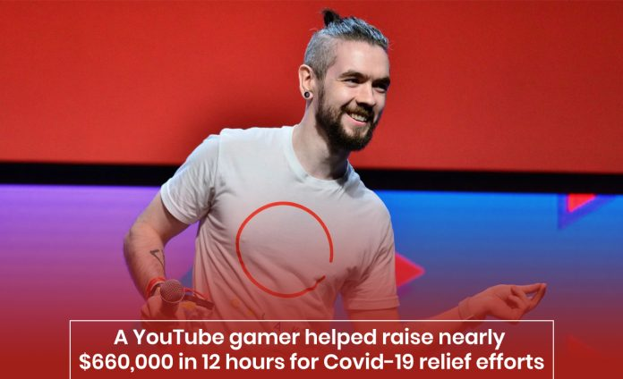 A YouTuber gamer raised over $1.7 million for coronavirus relief program