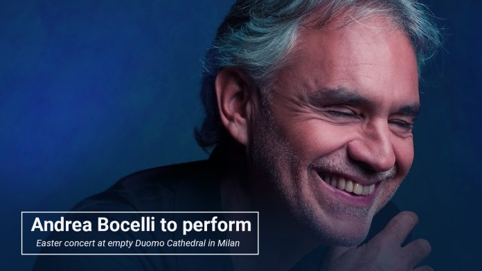 Andrea Bocelli make performance at Easter event in Milan