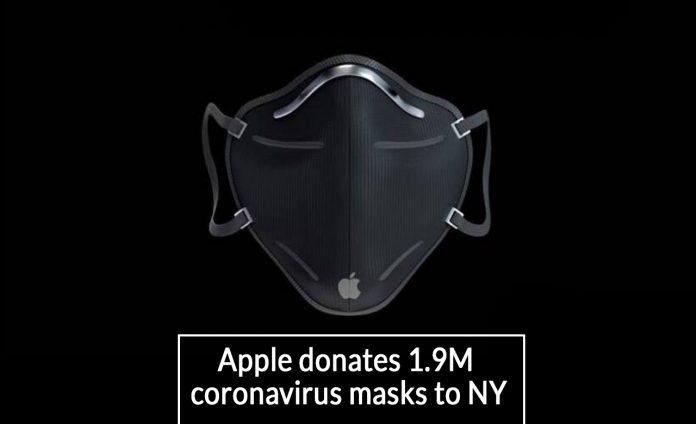 Apple Donates 1.9 million masks to New York for combating coronavirus