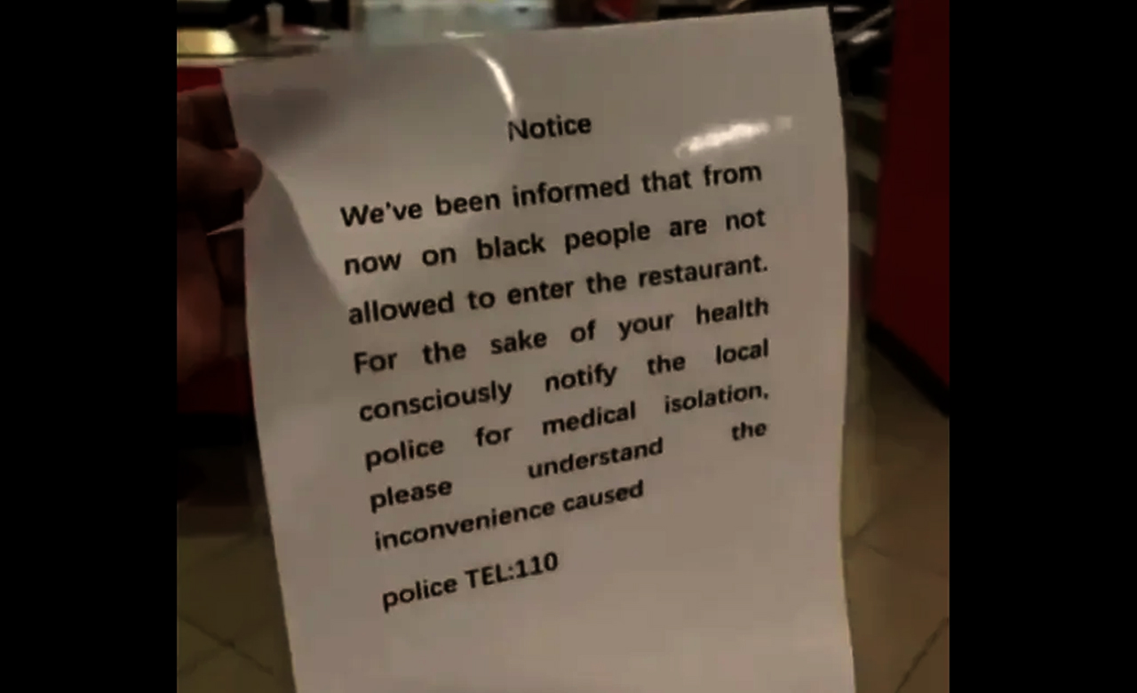 McDonald's China regrets for banning black community from a store