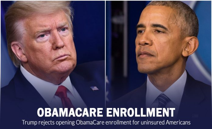 Trump rejects opening ObamaCare enrollment for uninsured Americans 2
