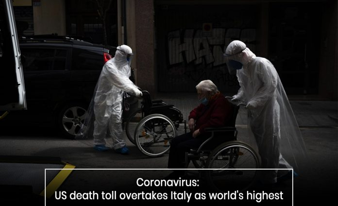 U.S. becomes the top country with highest COVID-19 deaths beating Italy