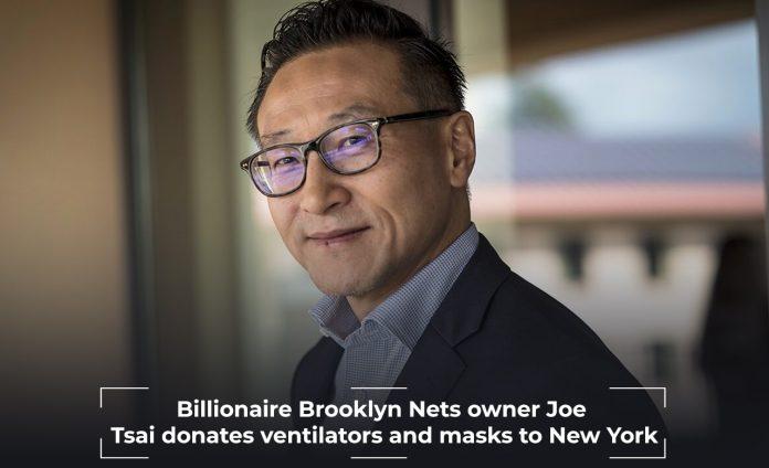 Joe Tsai, the co-founder of Alibaba, donates masks to New York