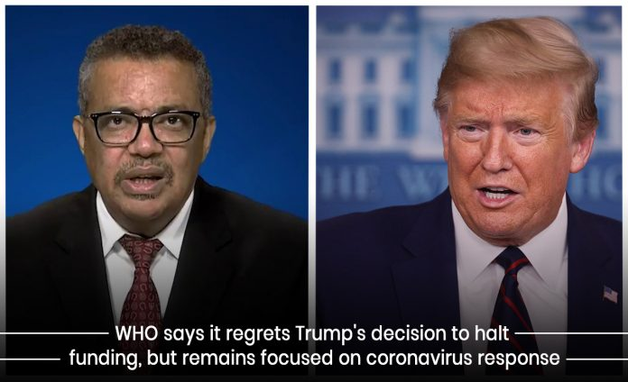 WHO Regrets the decision of Trump to terminate Funding the organization
