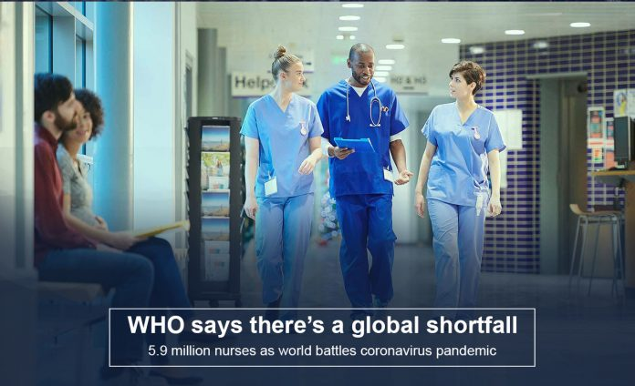 Global deficiency of 5.9 million nurses as world fights COVID-19