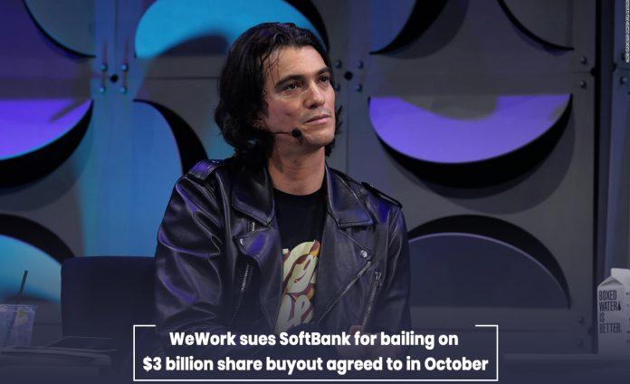 WeWork sued Softbank for abandoning $3 billion share acquisition