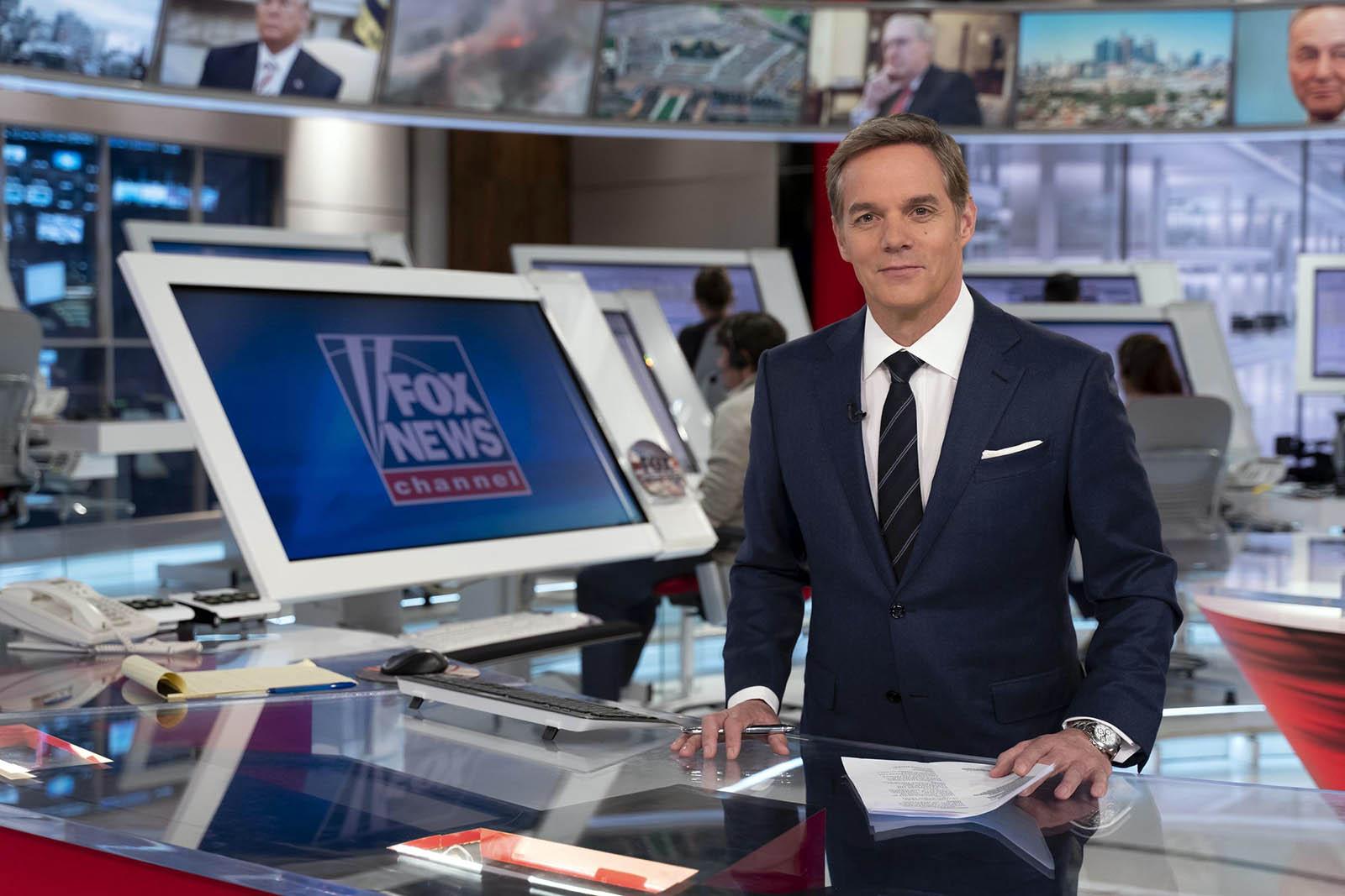 Bill Hemmer at News cast studio