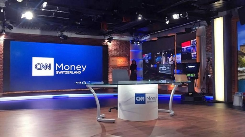 CNN Money news set