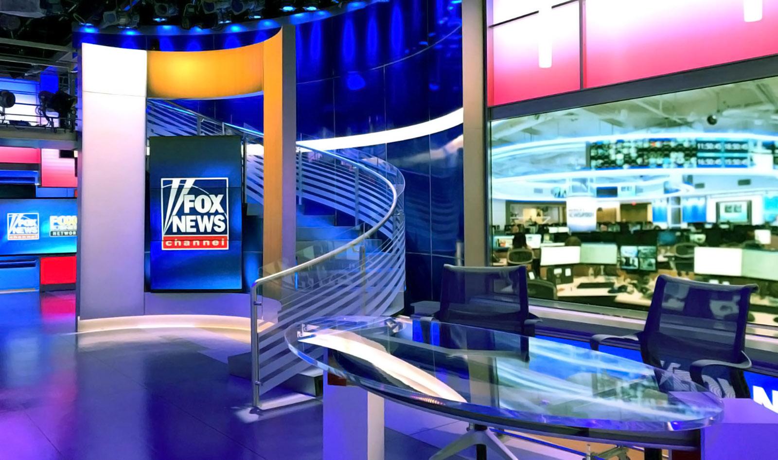 Fox News live broadcast studio