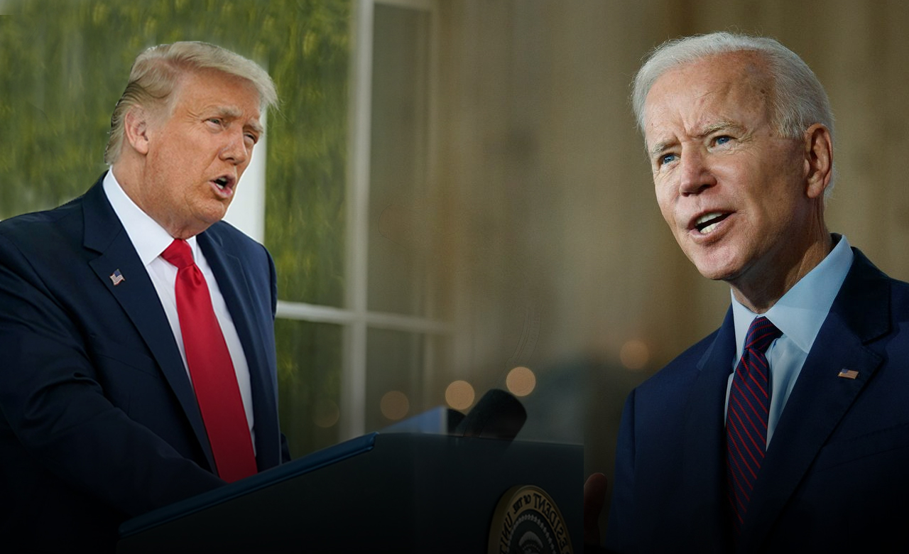 President Donald Trump attacks Biden on Labor Day while staying at home
